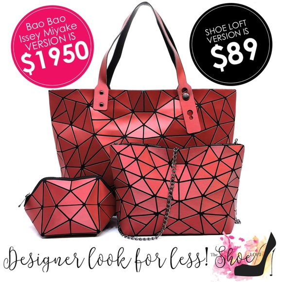 My Bag Lady Online Handbags - Lucent Geometric Tote Set